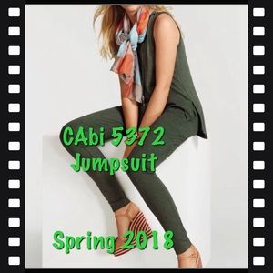 CAbi Simple Playsuit, #5372 Loden Green, M EUC